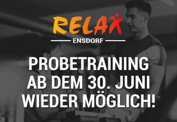 Probetraining ab 30. Juni wieder möglich!