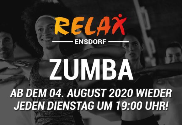 Ab 04. August finden wir Zumba-Kurse statt
