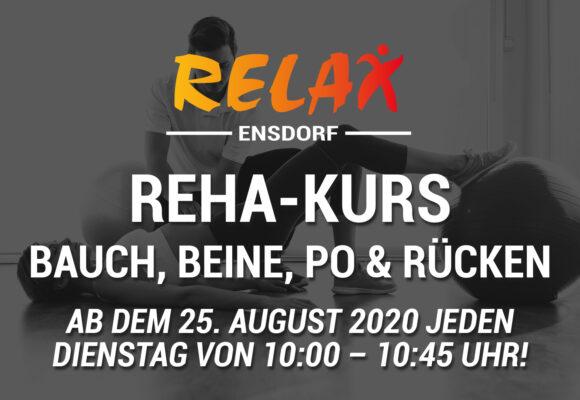 """Reha-Kurs """"Bauch, Beine, Po & Rücken"""" ab 25. August!"""