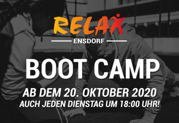 Boot Camp ab dem 20. Oktober auch jeden Dienstag um 18:00 Uhr!